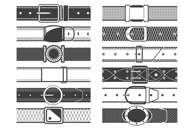 Vector belts with buckles