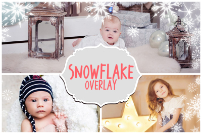 Christmas Snow Overlays
