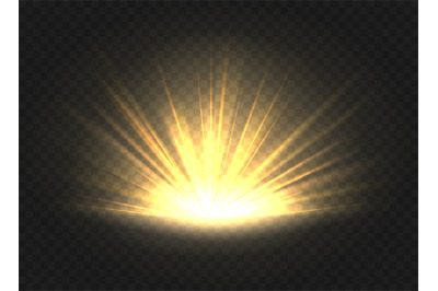 Golden ray radiance