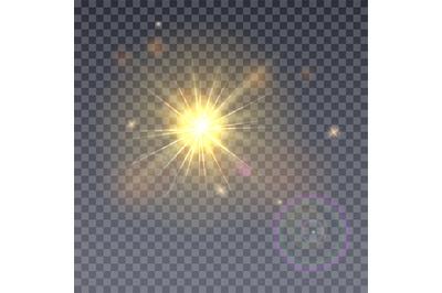 Sun aperture isolated on transparent