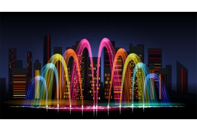 City water lighting show