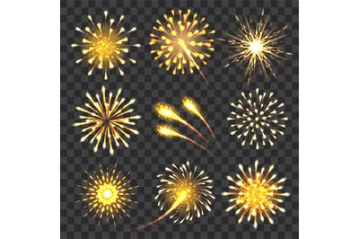 Golden cheers fireworks