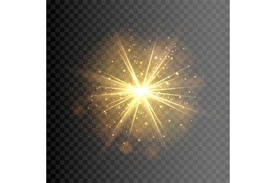 Explosion shining light element