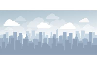 Flat cityscape simple design