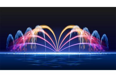 Water lights fountain