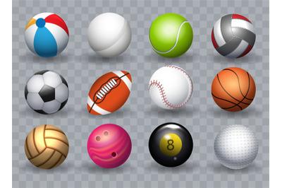 Realistic sports balls