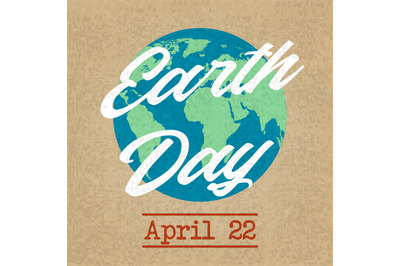 Earth planet day friendly background