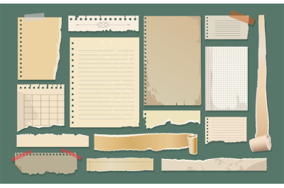 Old paper scrapbook elements