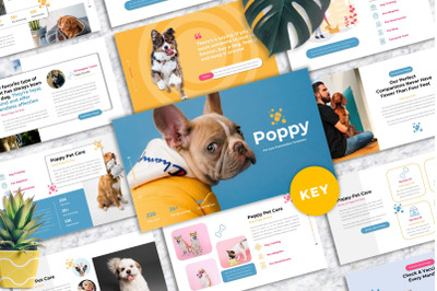 Poppy - Pet Care Keynote Templates