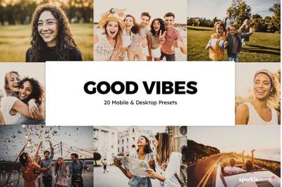 20  Good Vibes LR Presets