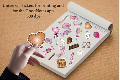 Stickers for printing and for the GoodNotes app.Sweet,candy