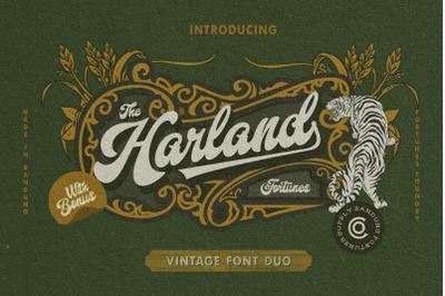 Harland VIntage Typeface