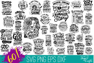 Huge Inspirational & Motivational SVG Cut Files Bundle
