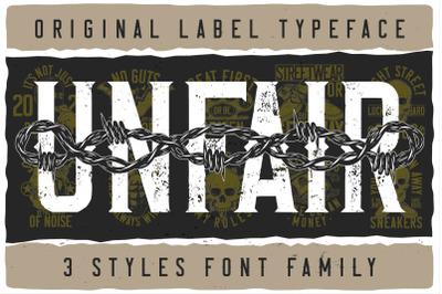 Unfair Font Family