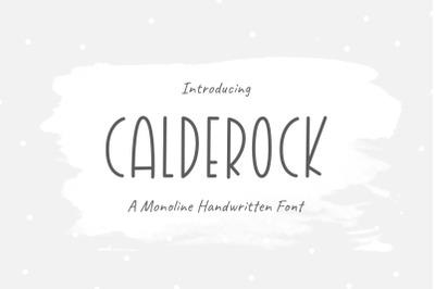 Calderock | Monoline - Handwritten Font