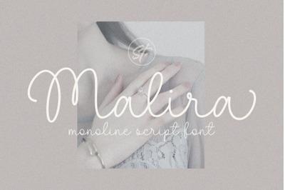 Malira - Monoline Font