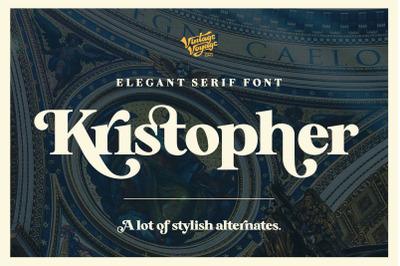 Kristopher.  A stylish Serif -30%