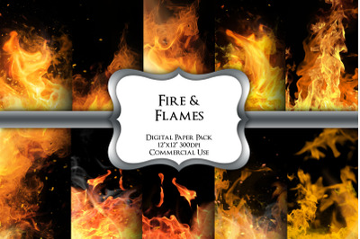 Fire and Flames Digital Paper Pack