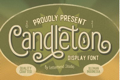 Candleton - Display Font