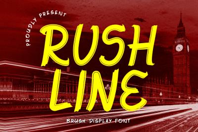 Rushline - Brush Display Font