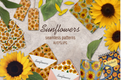 Sunflowers Digital Papers