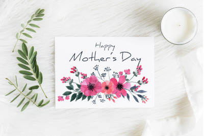 Printable Mother's Day Card, Mother's Day Greeting Card, Card 5x7