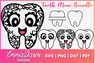Tooth Mini Bundle SVG 6 Mandala Zentangle Designs
