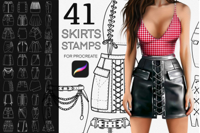 41 Fashion skirts stamps for Procreate