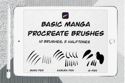 Basic manga procreate brushes