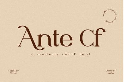 Ante Cf Serif
