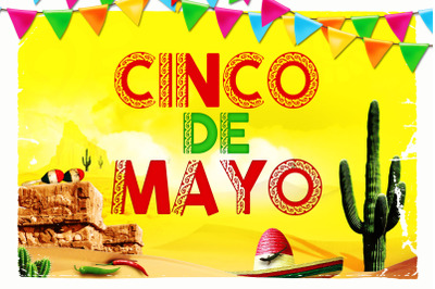 Cinco De Mayo Mexican Font