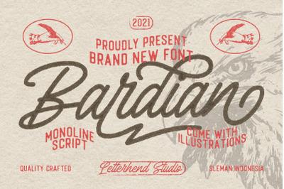 Bardian - Monoline Script