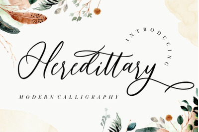 Heredittary Modern Calligraphy