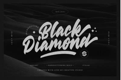 Black Diamond Handlettering Bold