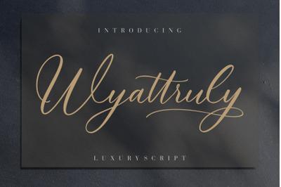 Wyattruly Luxury Script