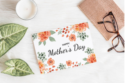 Happy Mother's Day Printable Card. 5x7