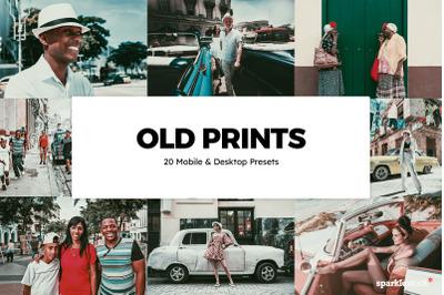 20  Old Prints LR Presets