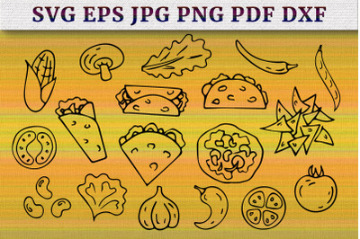 Mexican traditional food bundle SVG Cut Files