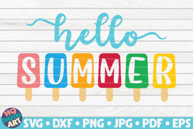 Hello summer with popsicles SVG