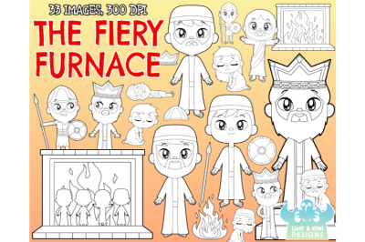 The Fiery Furnace Digital Stamps - Lime and Kiwi Designs