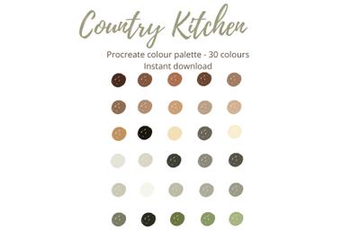 Country Kitchen Procreate Palette X 30 Colours