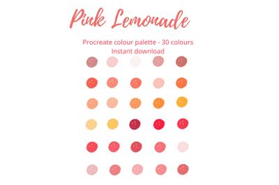 Pink Lemonade Procreate Palette X 30 Colours