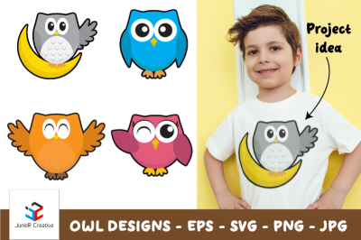 Owl Designs SVG / EPS / PNG / JPG