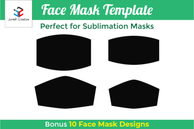 Face Mask Template SVG - Face Mask Sublimation