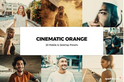 20  Cinematic Orange LR Presets