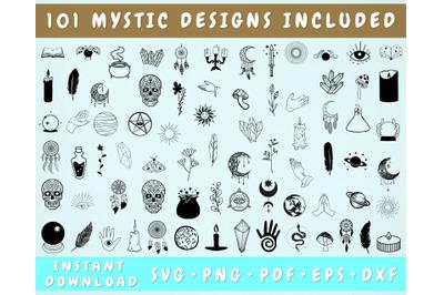 Mystic SVG Bundle - 101 Designs, Witchcraft SVG, Celestial SVG