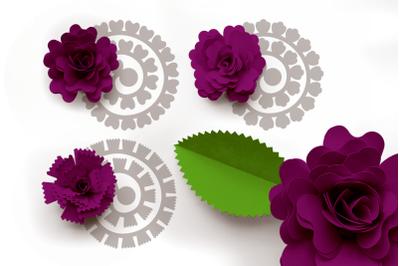 Rolled Paper Flowers - Fancy Petal Shapes | SVG | PNG | DXF | EPS