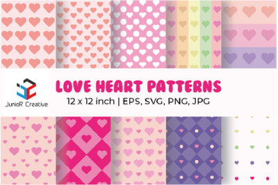 Love Heart Patterns Bundle