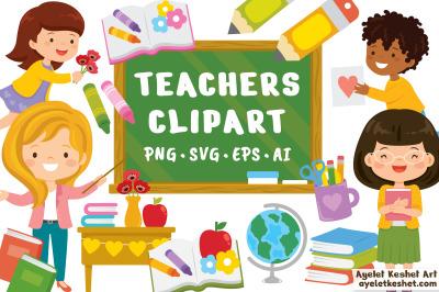 Teacher & School Clipart Set