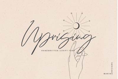 Uprising handwritten script